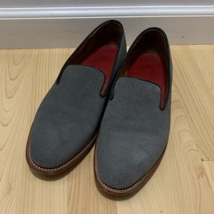 db721be9400 Grenson Mansell Gray Suede Loafers